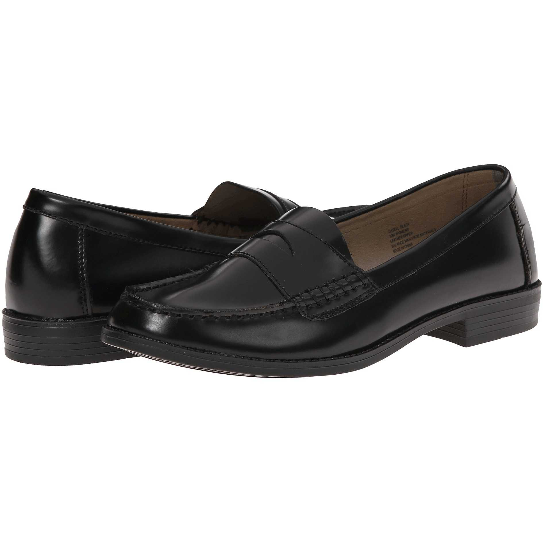 Mocasini dama Bass Casell Black Leather