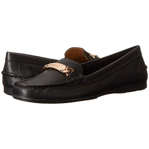 Mocasini dama COACH Olive Black Pebble Grain Leather