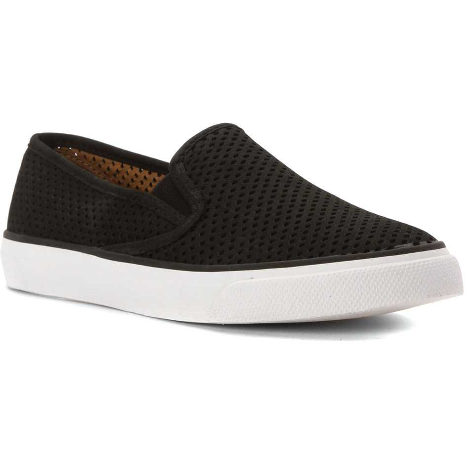 Mocasini dama Sperry Top-Sider Seaside Perfs Black