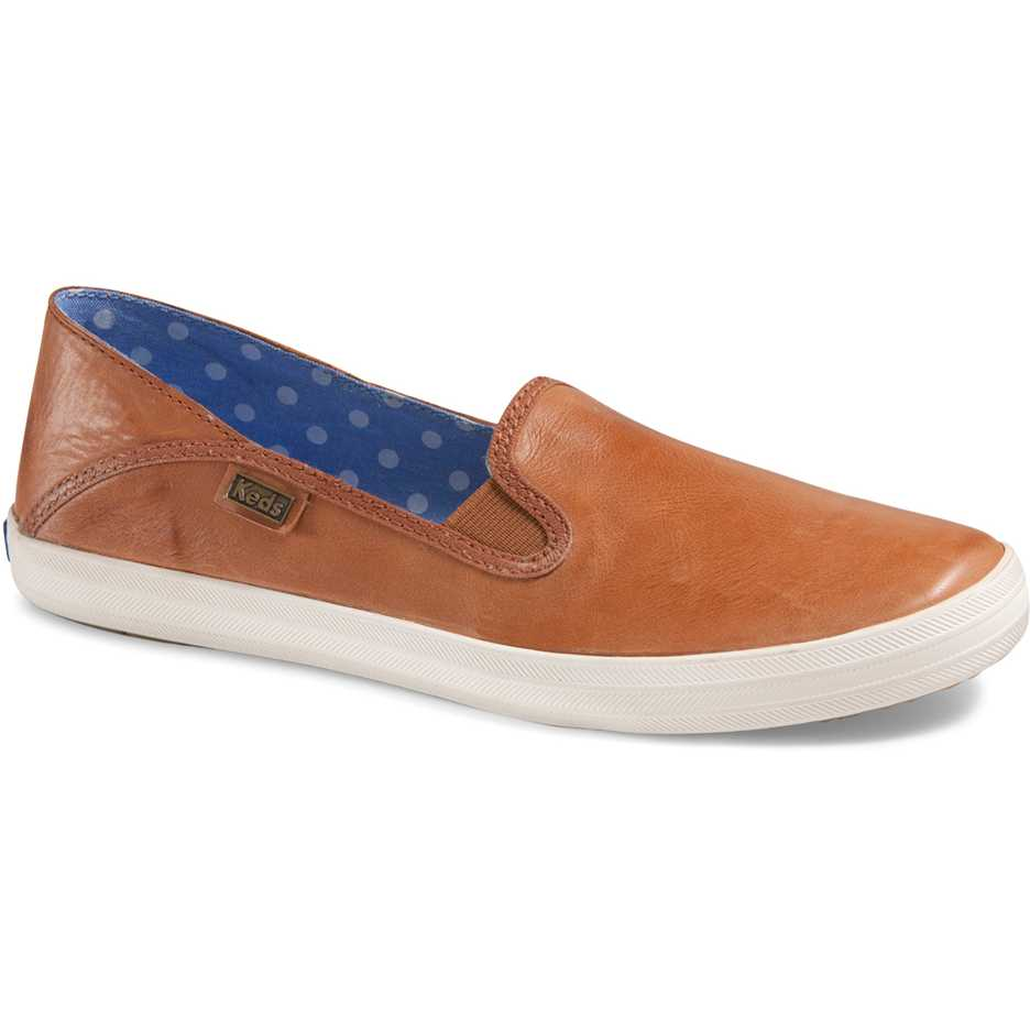 Mocasini dama Keds Crashback Leather Cognac