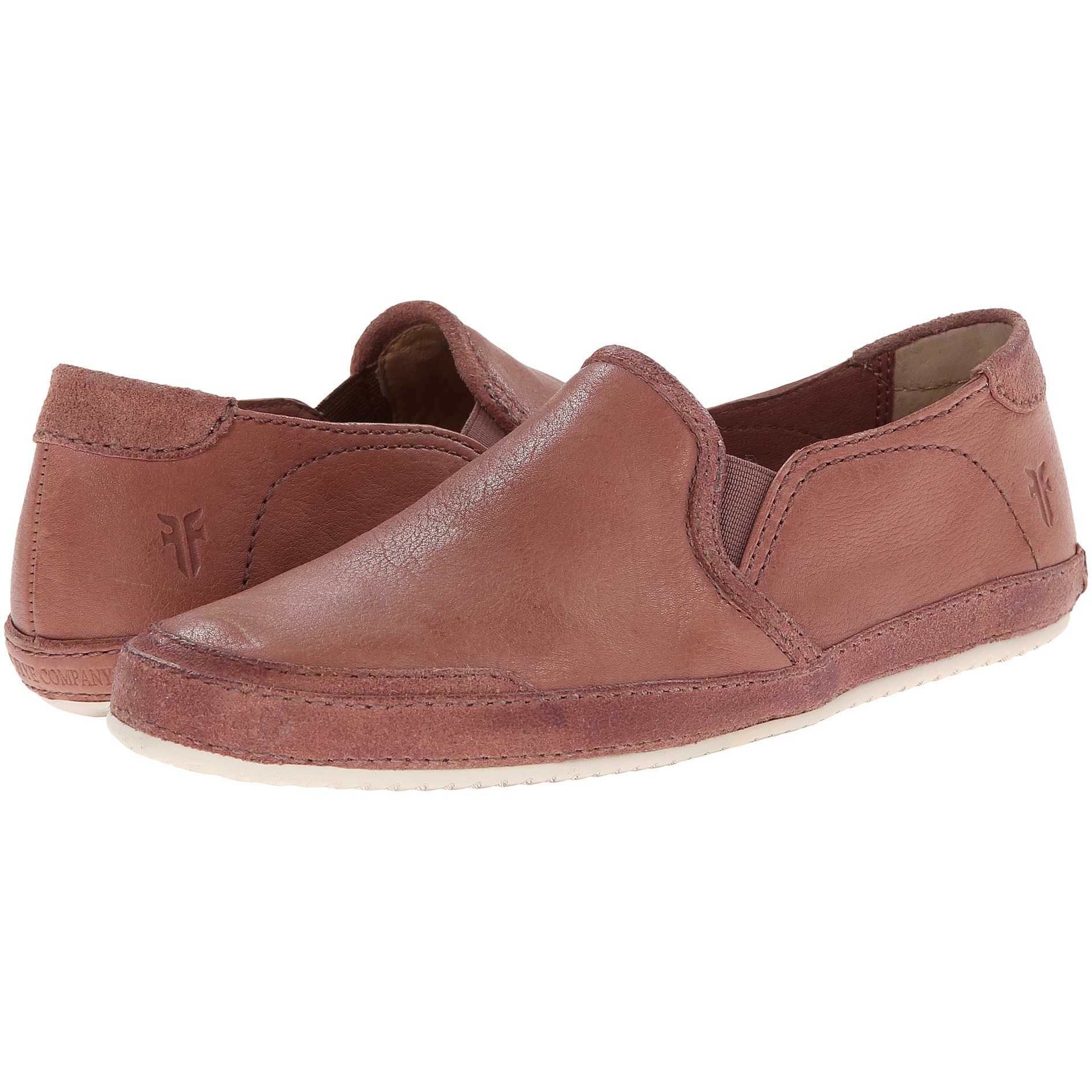 Mocasini dama Frye Dean Artisan Slip Dusty Rose Tumbled Full Grain