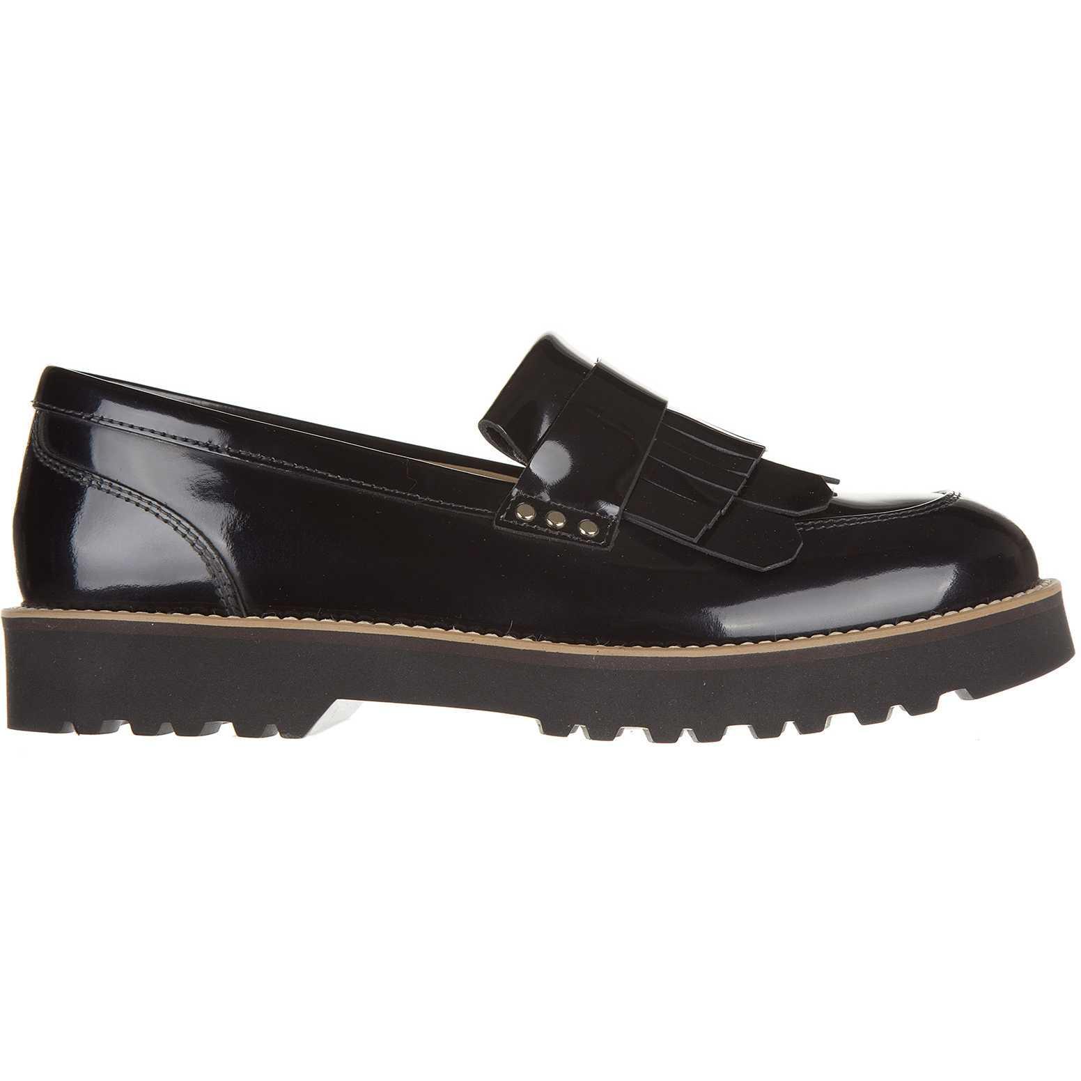 Mocasini dama Hogan Women's Leather Loafers Moccasins New H259 Route Black
