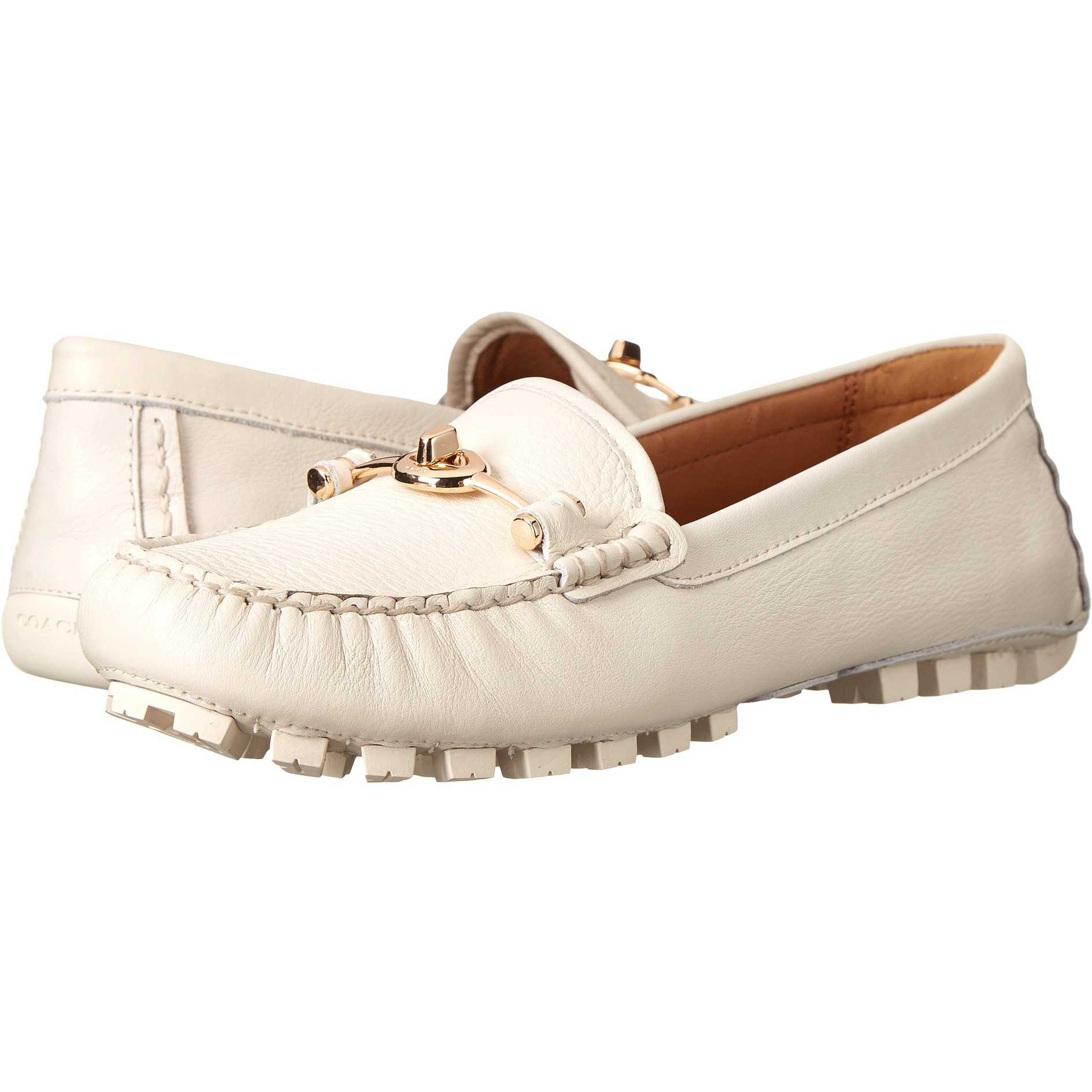 Mocasini dama COACH Arlene Chalk Pebble Grain Leather