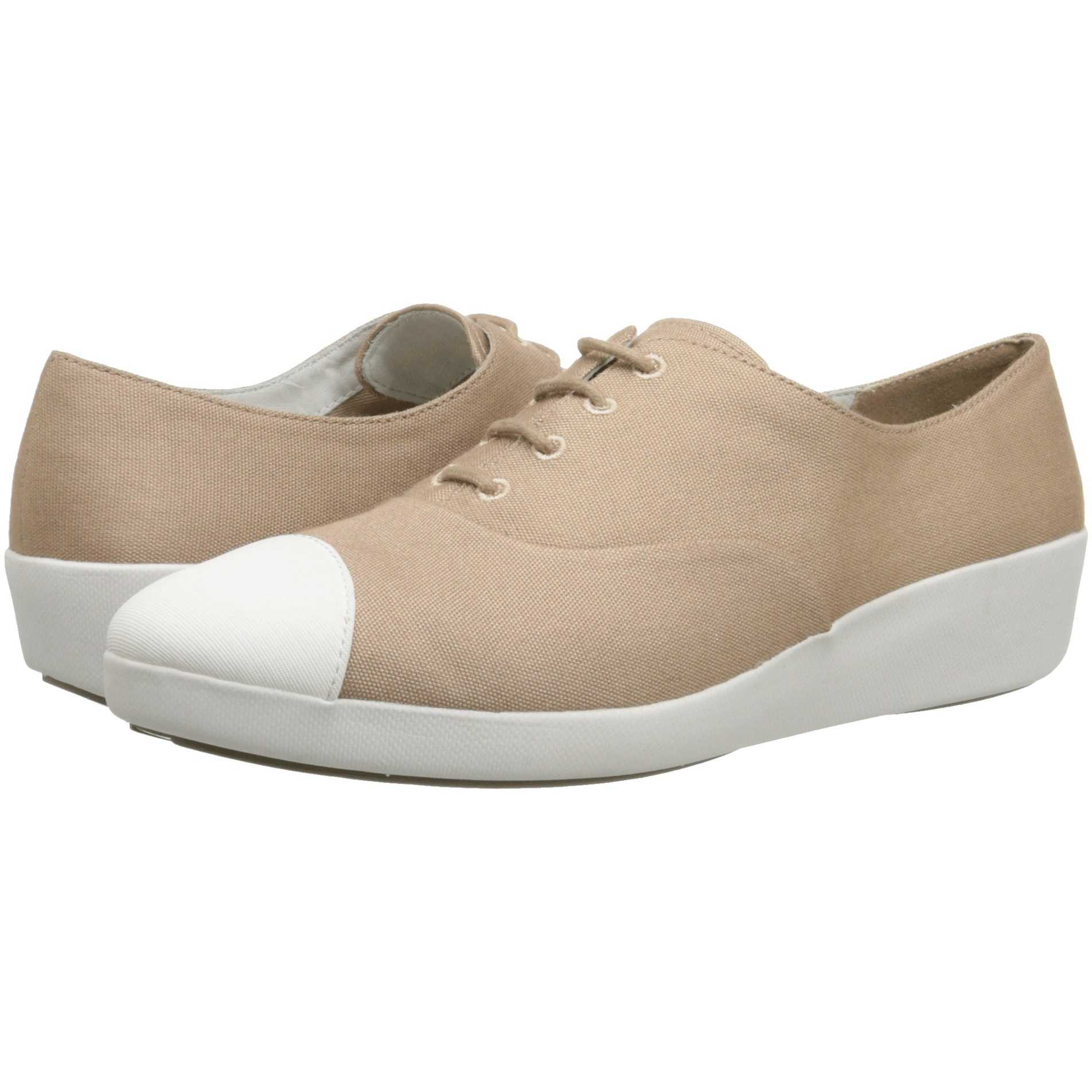 Mocasini dama FitFlop F-Pop Oxford Canvas Timberwolf