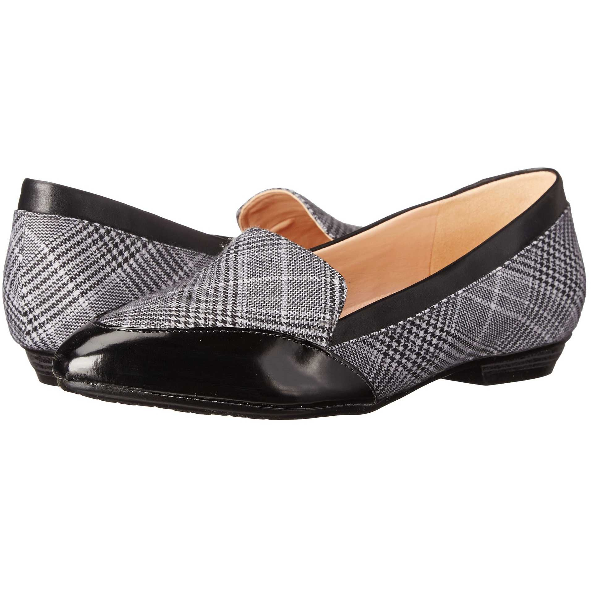 Mocasini dama Naturalizer Peace Grey Plaid Fabric/Black Smooth