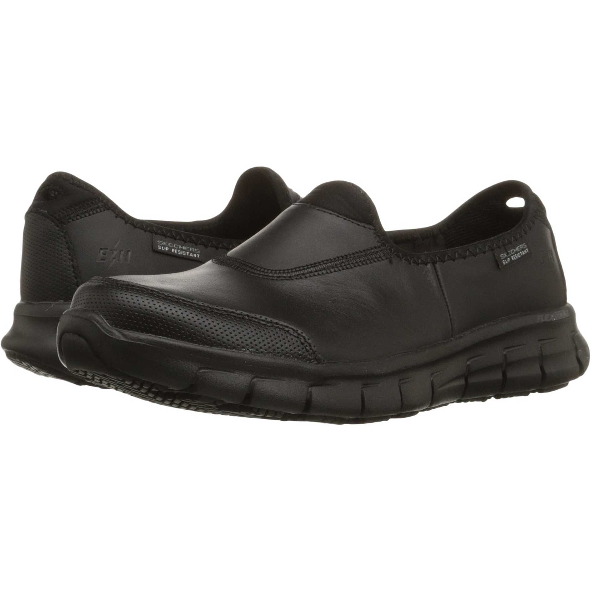 Mocasini dama SKECHERS Work Sure Track Black