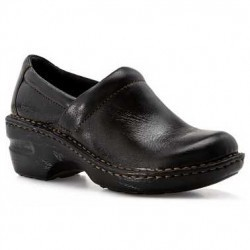 Mocasini dama boc Peggy Smooth Leather Clog Black