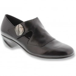 Mocasini dama Mark Lemp Classics Tai Black Leather Cashmere