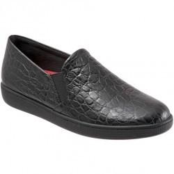 Mocasini dama Trotters Americana Black Croco