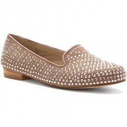 Mocasini dama Ros Hommerson Octavia Taupe MicroSuede/Silver Stones