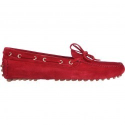 Mocasini dama Car Shoe Moccasins Red