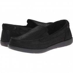 Mocasini dama Crocs Walu Shimmer Leather Loafer Black/Black