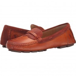 Mocasini dama Frye Reagan Stitch Keeper Whiskey Smooth Vintage Leather/Oiled Suede
