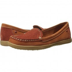 Mocasini dama Hush Puppies Ryann Claudine Dark Orange Nubuck/Snack Textile