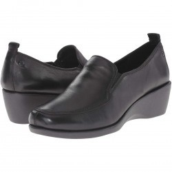 Mocasini dama Hush Puppies Vanna Cleary Black Leather